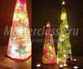 Светящаяся новогодняя елка своими руками