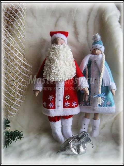 Текстильная игрушка Тильда – дед Мороз