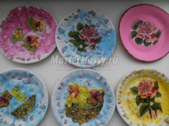 Как сделать тарелку из салфеток своими руками