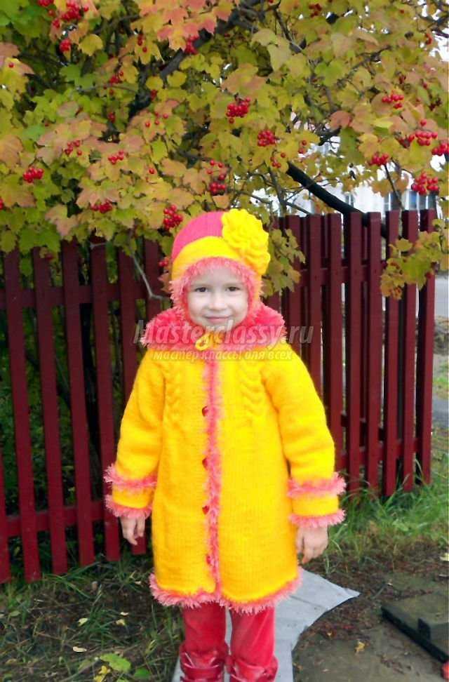 Осеннее вязание для девочки 145