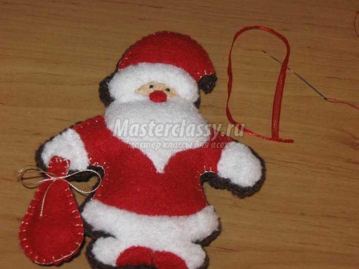 Новогодняя игрушка деда мороза своими руками