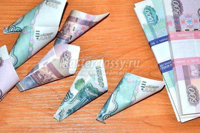 Топиарий своими руками из денег