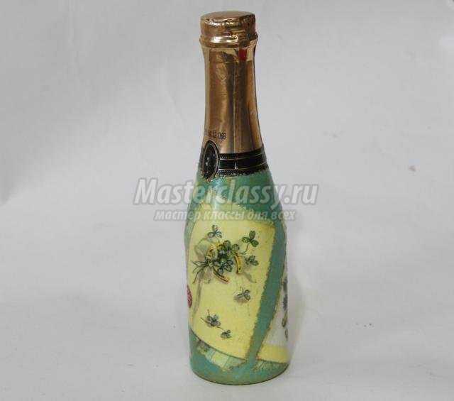 Новогоднее шампанское декупаж мастер класс