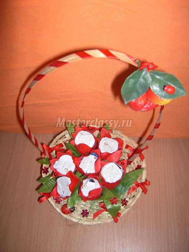 Корзинки с конфетами своими руками фото