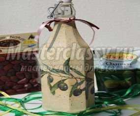 Мастер класс по объемному декупажу на бутылке