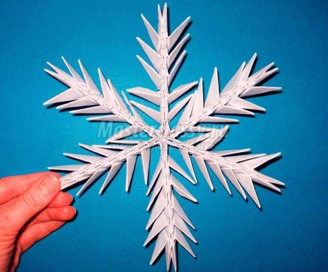 Как сделать модуль для оригами снежинка