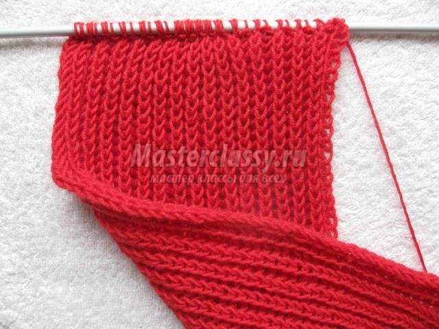 Учимся вязанию теплого шарфика английской резинкой