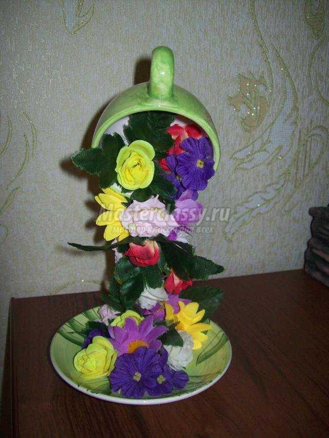 Топиарий цветок мастер класс