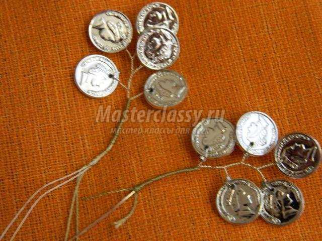Дерево из монеток своими руками