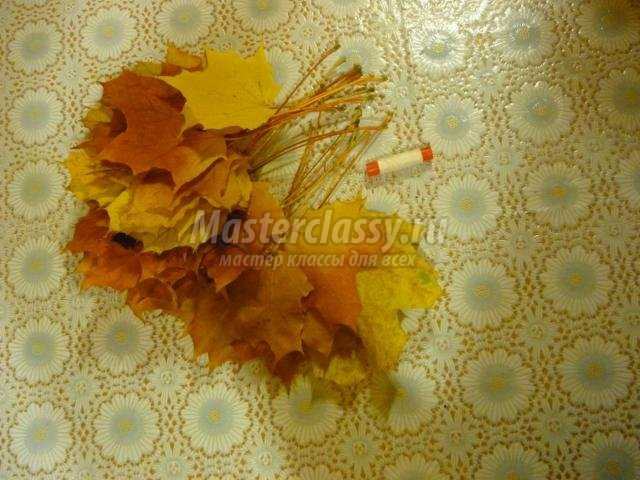 Ваза из листьев фото 3