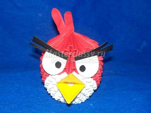 Модульное оригами Птичка Рэд