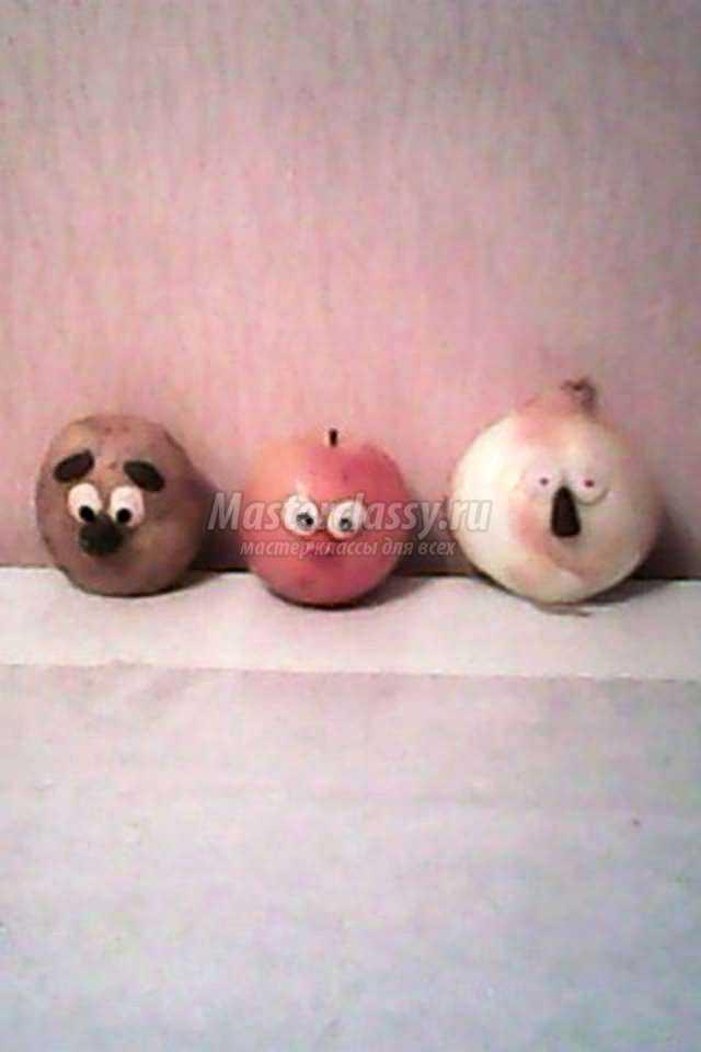 Поделки из фруктов и овощей. Смешарики