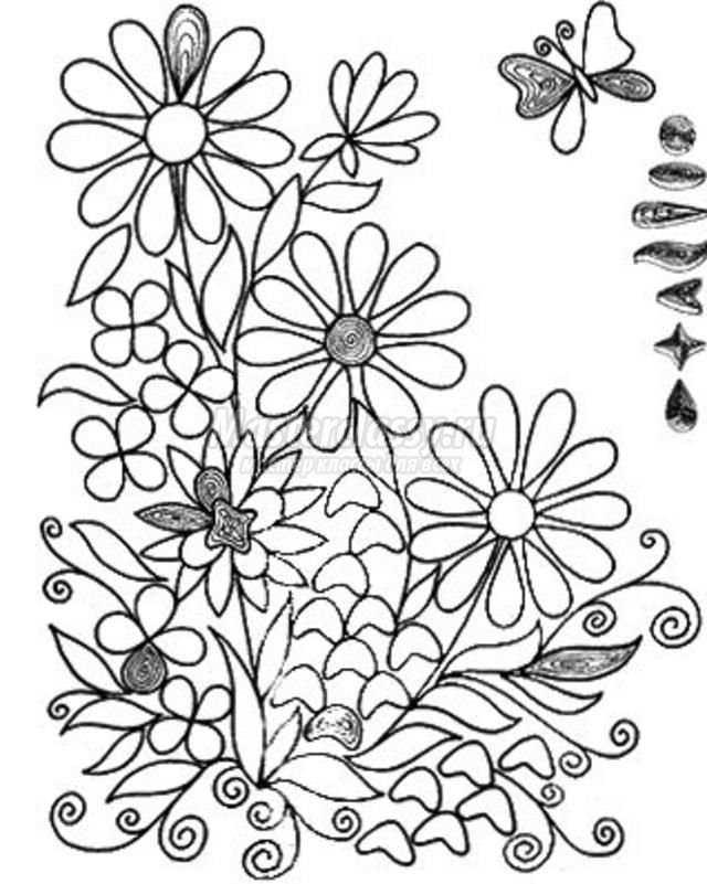 Цветы из кожи кЧертёж станка для вышивПоделки