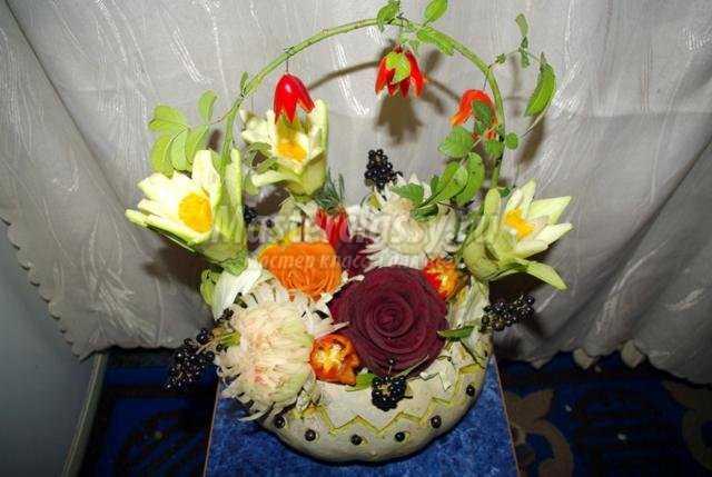 Цветы из овощей своими руками мастер класс