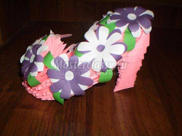 модульное оригами. Туфелька
