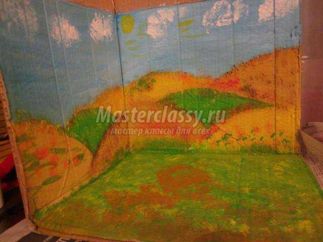 поделки из природных материалов для детского сада. Осень в деревне