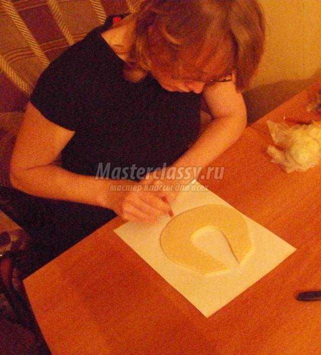 подкова из соленого теста для мамы