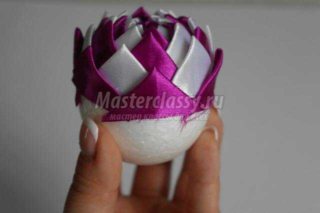 Как сделать шар из ленточек своими руками