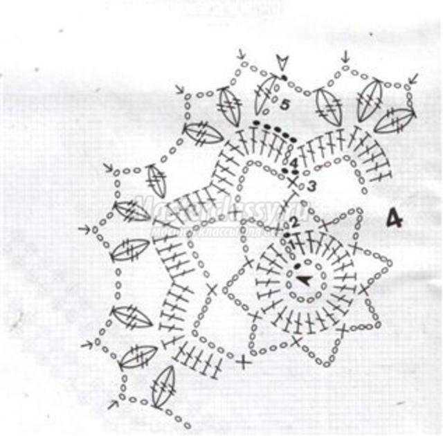 Схема вязания крючком новогодних шаров 73