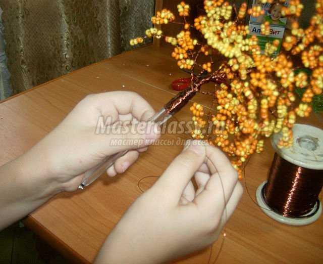 Горшочки своими руками для деревьев из бисера