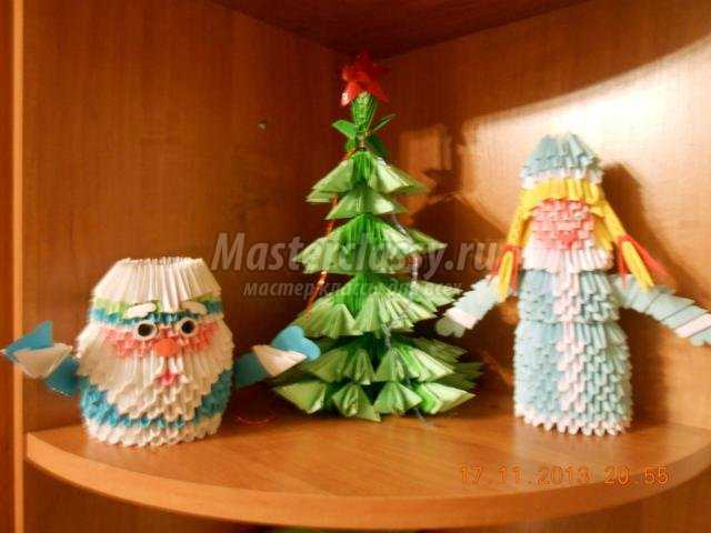 Оригами новогодняя елка мастер класс - Модная мама