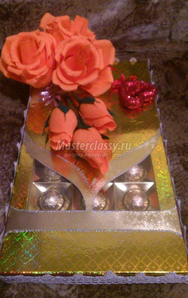 декор коробки конфет в технике свит-дизайн