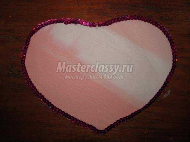 Сердце с цветами из гофрированной бумаги. Мастер-класс с пошаговыми фото