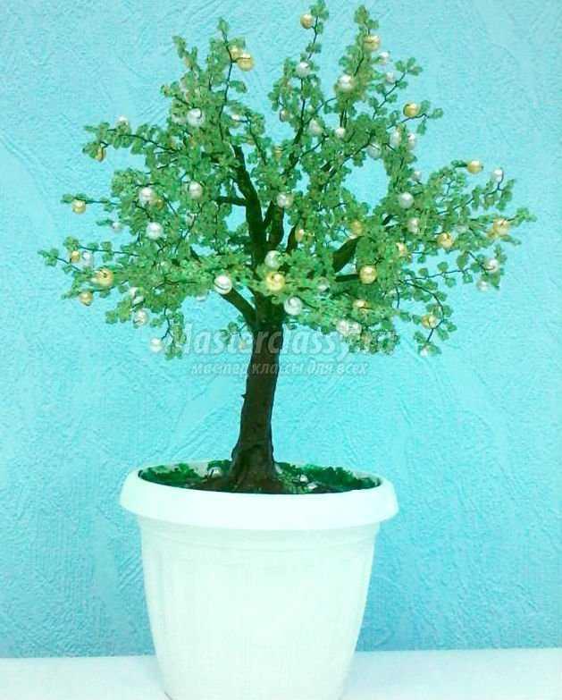 дерево из бисера для мамы.