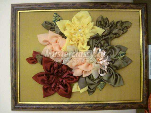 Букет цветы из ткани своими руками