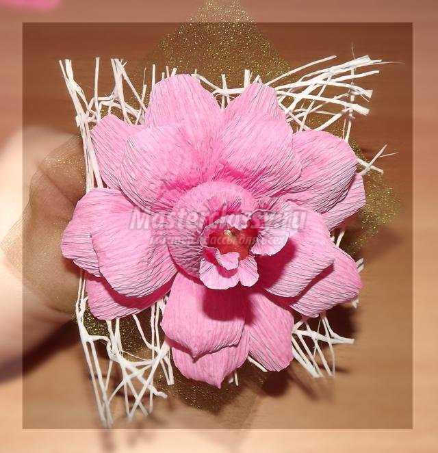 Цветы своими руками из гофрированной бумаги фото