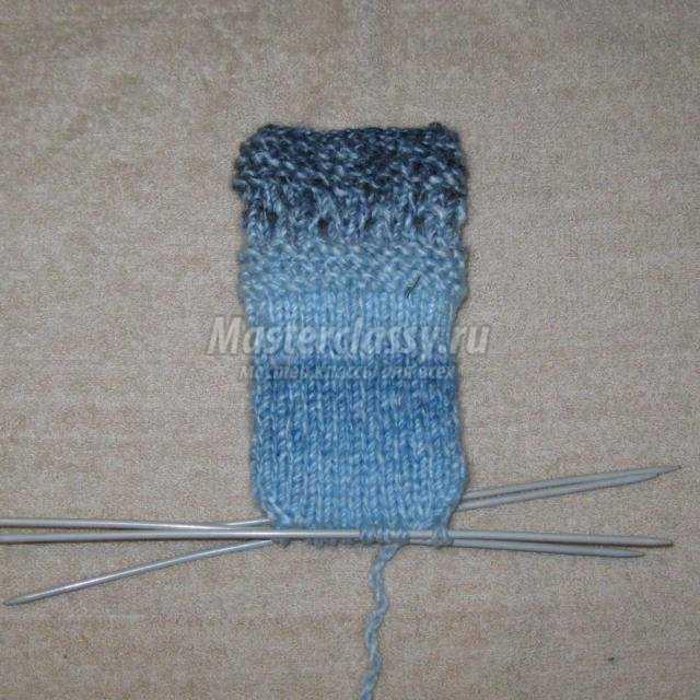 вязание спицами. Варежки для детей до года