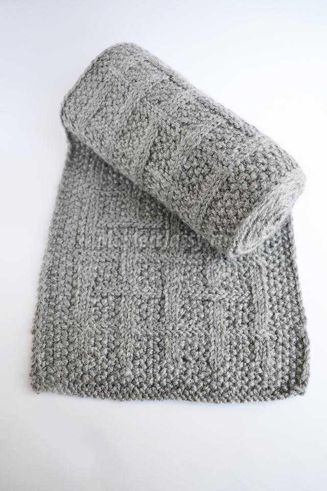 вязаный шарф спицами в подарок