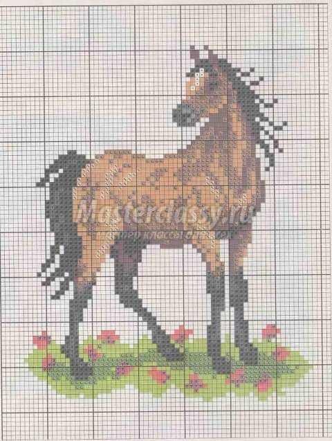 Год лошади схема вышивки №4.