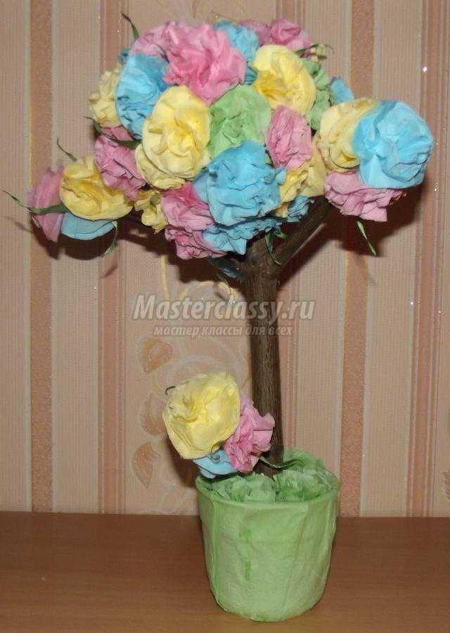 цветочное дерево из салфеток