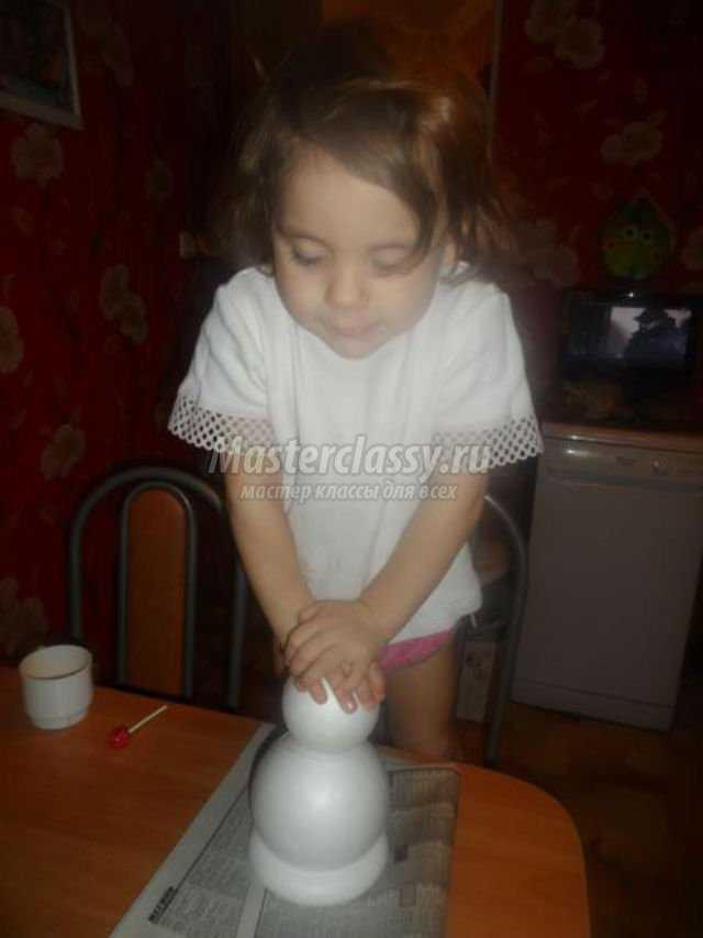 Как сделать шапку снеговика своими руками