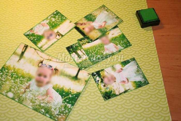 Коллаж из фото из картона