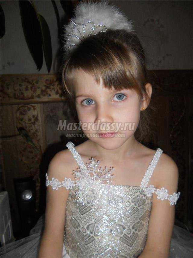новогодний костюм для девочки принцесса. Снежинка
