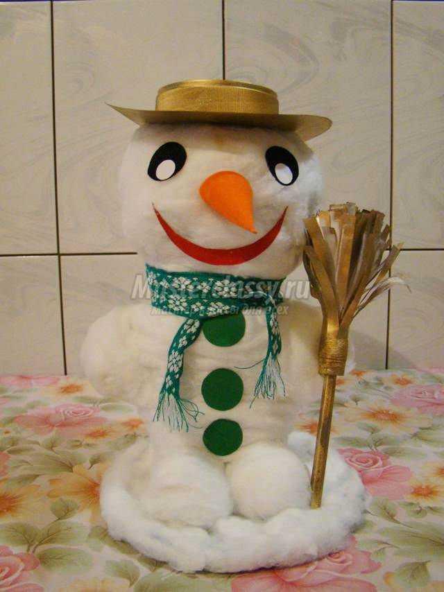 Как сделать снеговика из ваты своими руками фото 1033