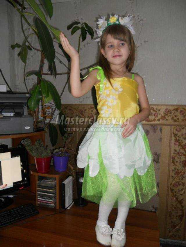 Костюм тюльпана для девочки своими руками
