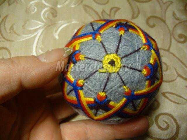 Японские шары темари мастер класс сделай сам #12
