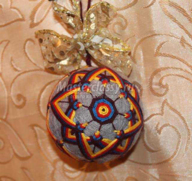 Японские шары темари мастер класс сделай сам #2