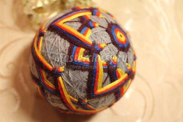 Японские шары темари мастер класс сделай сам #11