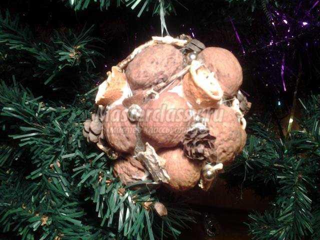 эко поделки на Новый год. Шар на елку
