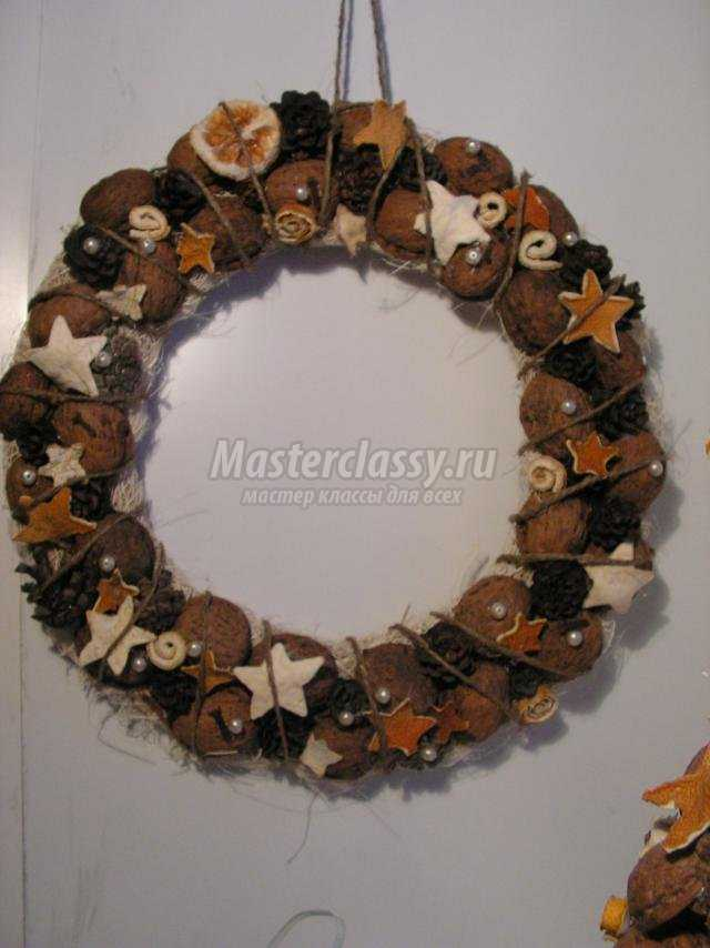 Рождественский эко венок из природных материалов. Мастер-класс с пошаговыми фото