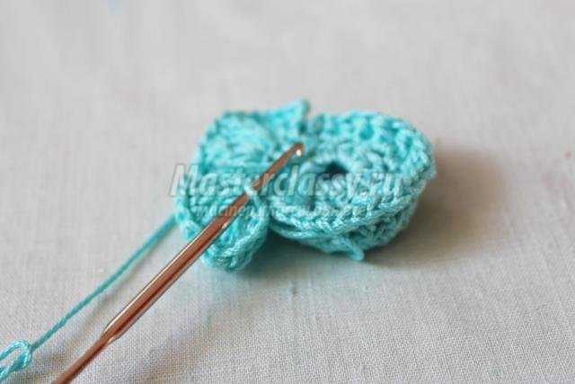 вязание крючком броши в технике фри-форм