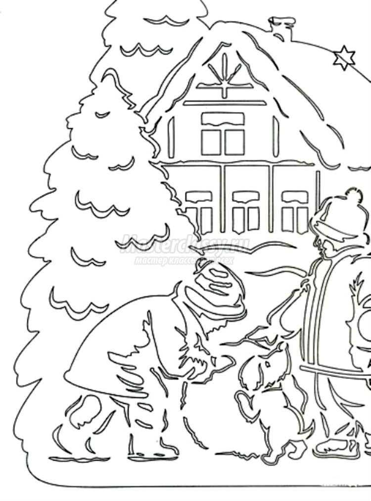 новогодние трафареты на окна. Шаблоны