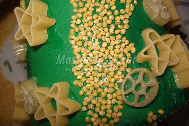 Поделки из макарон пошагово фото