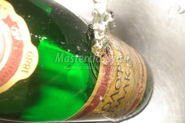 декупаж шампанского