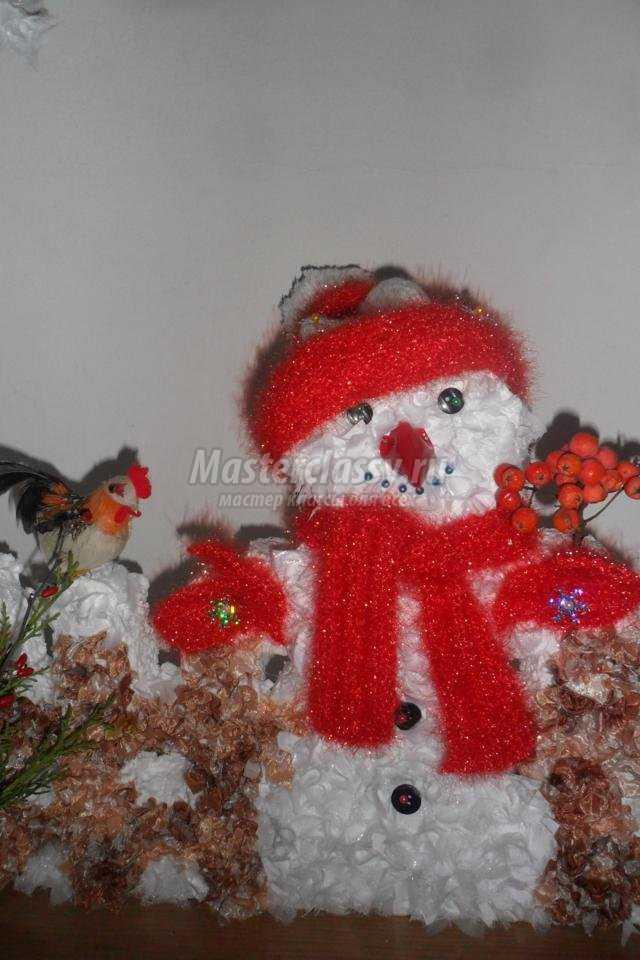 Композиция со снеговиком своими руками