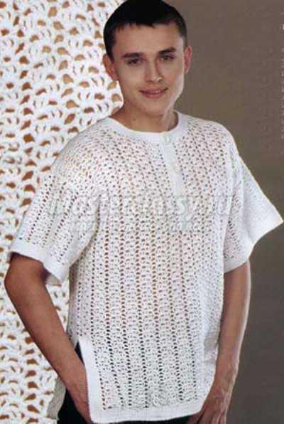 Схема мужской свитер крючком